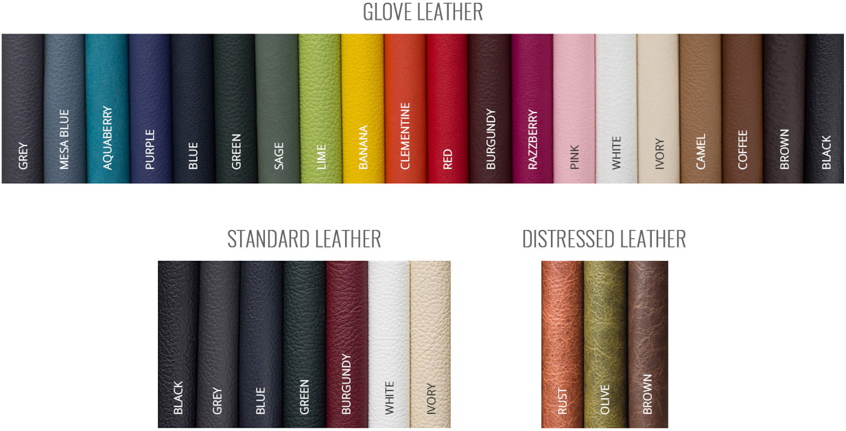 Zookbinders - Glove Leather, Standard Leather, and Distressed Leather cover options