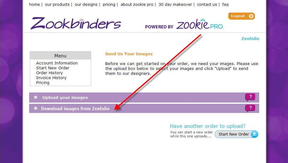 Zookbinders - Zenfolio Integration