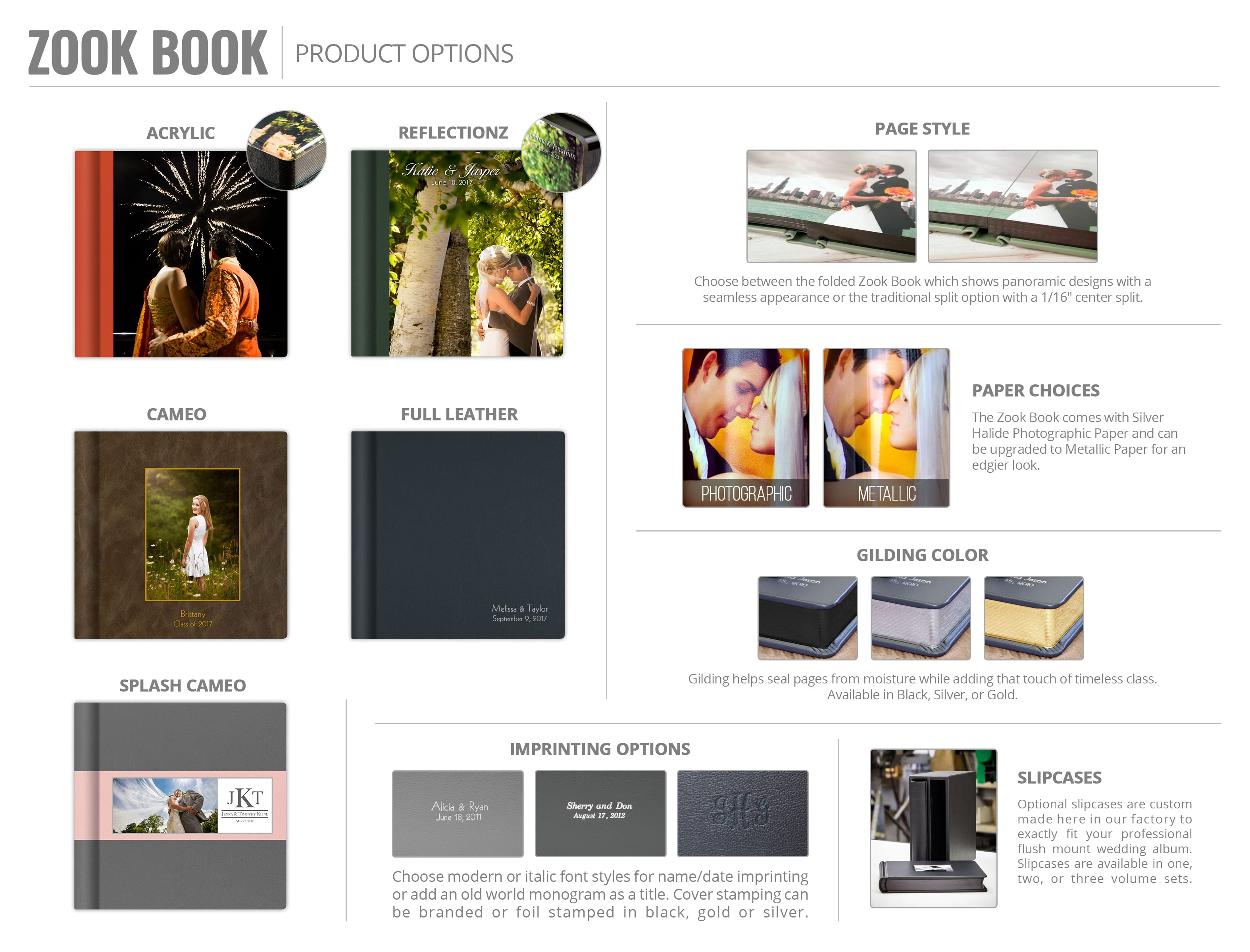Info Sheets Zookbinders Albums Services To