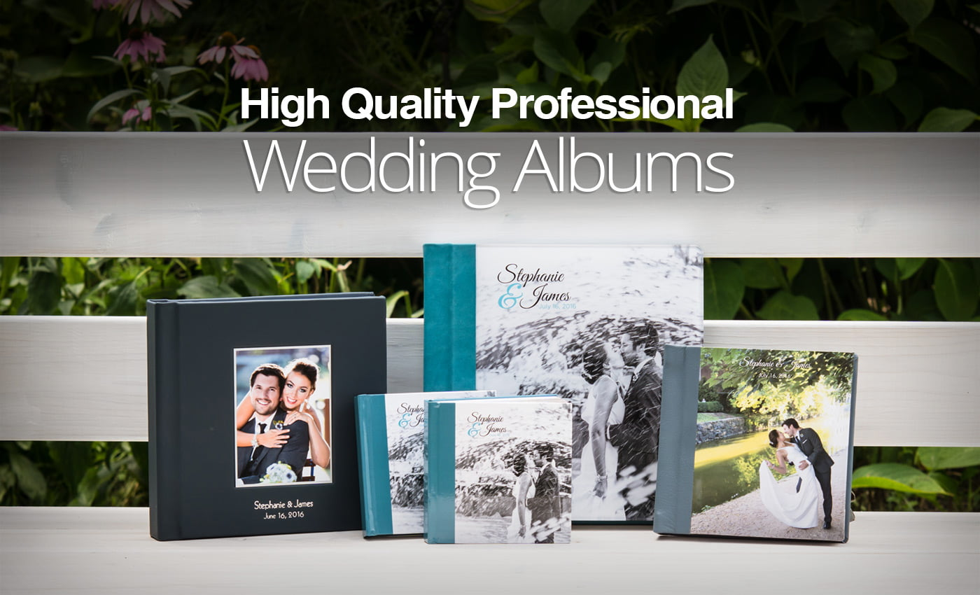A set of photo albums wedding albums and photo books