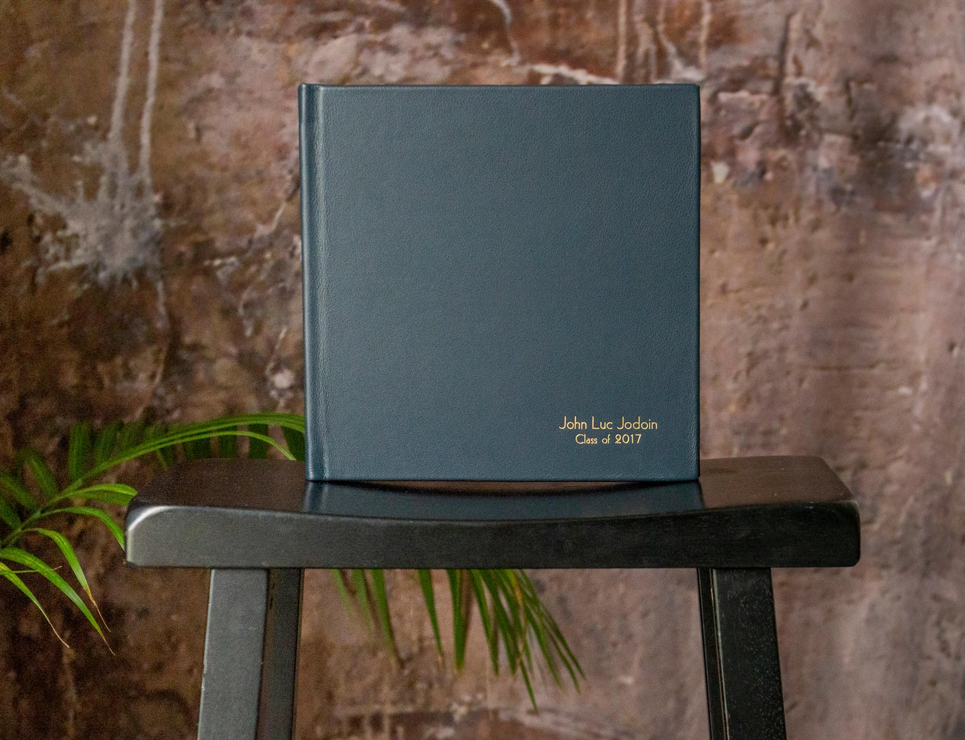 Lustre Book With Full Leather Cover